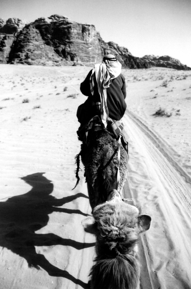 camel and guide