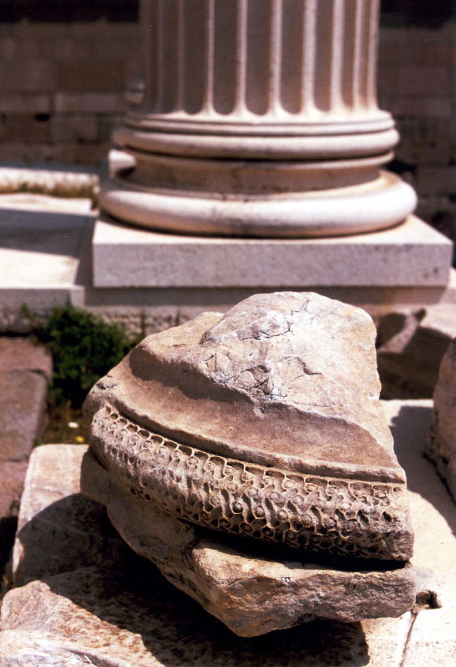 column base at acropolis