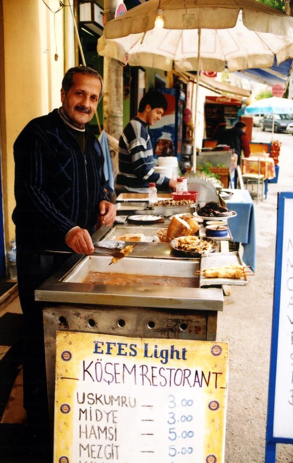 vendor at Anadolu Kavagi